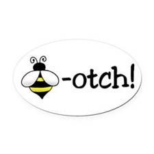 Beeotch Oval Car Magnet
