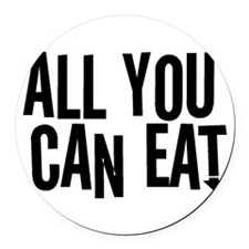 All You Can Eat Round Car Magnet