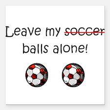 "Cute Soccer dad Square Car Magnet 3"" x 3"""