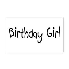 Birthday Girl Rectangle Car Magnet