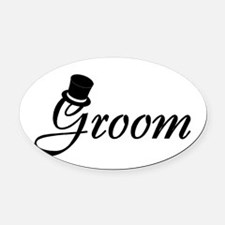 Groom (Top Hat) Oval Car Magnet