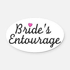 Bride's Entourage Oval Car Magnet
