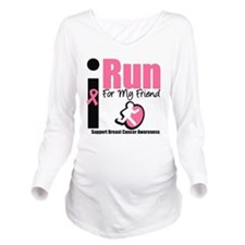 irunforfriend.png Long Sleeve Maternity T-Shirt