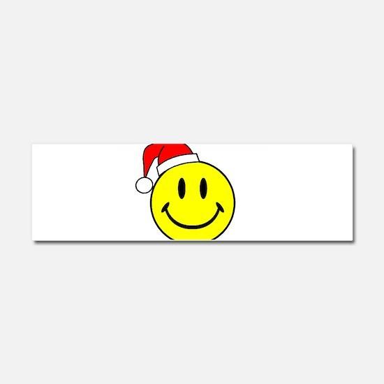 Smile (Santa Hat) Car Magnet 10 x 3