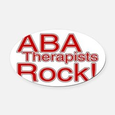ABA Therapists Rock! Oval Car Magnet
