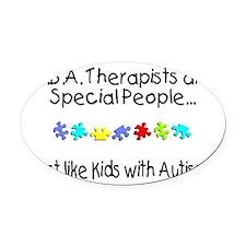 Unique Aba autism Oval Car Magnet