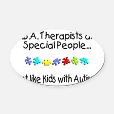 Cute Autism ribbon Oval Car Magnet