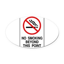Cute Stop smoking Oval Car Magnet