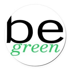 Be Green Round Car Magnet