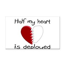 Half My Heart Is Deployed Rectangle Car Magnet