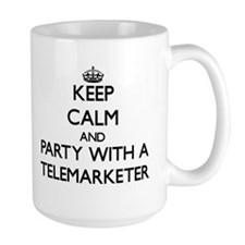 Keep Calm and Party With a Telemarketer Mugs