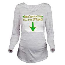 Pot O' Gold Long Sleeve Maternity T-Shirt