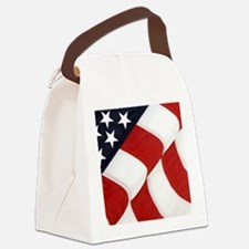 American Flag Canvas Lunch Bag