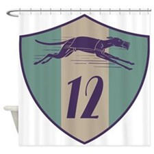 Graphic Racing Greyhound Dog Shield Number 12 Show