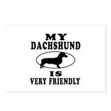 My Daschund Is Very Friendly Postcards (Package of