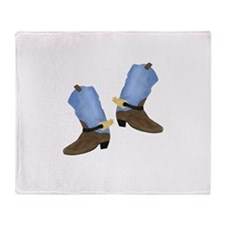 Cowboy Boot Throw Blanket