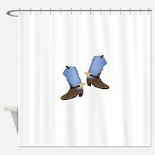 Cowboy Boot Shower Curtain