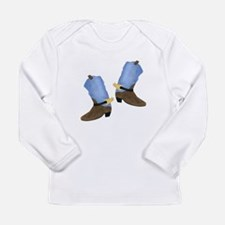 Cowboy Boot Long Sleeve Infant T-Shirt