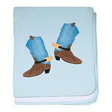 Cowboy Boot baby blanket