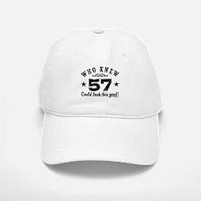 Funny 57th Birthday Baseball Baseball Cap
