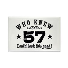Funny 57th Birthday Rectangle Magnet