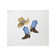 Cowboy - Western Throw Blanket