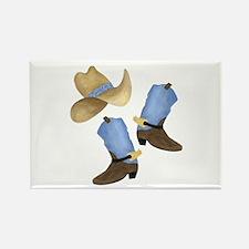 Cowboy - Western Rectangle Magnet