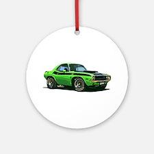 BabyAmericanMuscleCar_70CHLGR_green Ornament (Roun