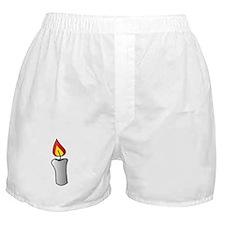 White Burning Candle Boxer Shorts