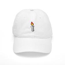 White Burning Candle Baseball Baseball Cap