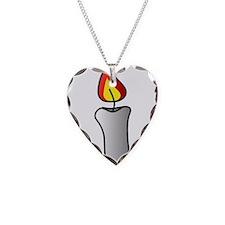 White Burning Candle Necklace