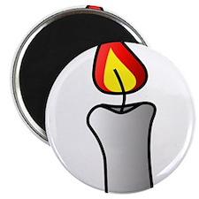 White Burning Candle Magnets
