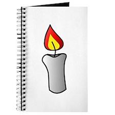 White Burning Candle Journal