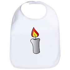 White Burning Candle Bib