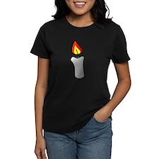 White Burning Candle T-Shirt