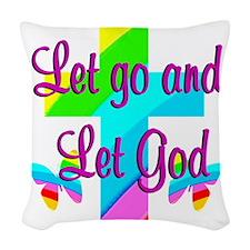 PRAISE GOD Woven Throw Pillow