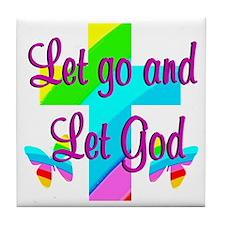 PRAISE GOD Tile Coaster