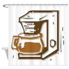 Coffee Maker Shower Curtain