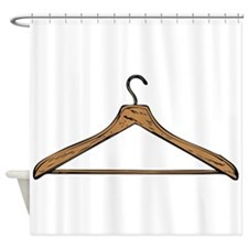 Clothes Hanger Shower Curtain