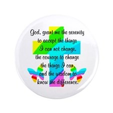 "SERENITY PRAYER 3.5"" Button"