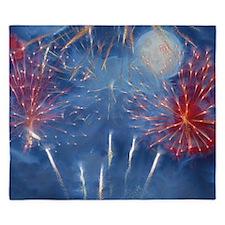 Fractal Fireworks King Duvet