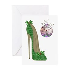 Christmas Stiletto Greeting Cards