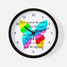 SERENITY PRAYER Wall Clock