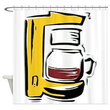 Coffee Maker Shower Curtain