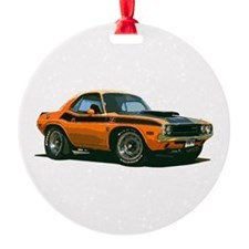 BabyAmericanMuscleCar_70CHLGR_Orange Ornament