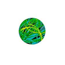 neon light show, green Mini Button