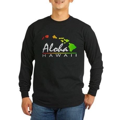 ALOHA Hawaii (Distressed Design) Long Sleeve T-Shi
