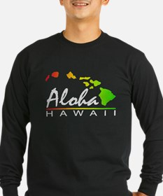 ALOHA Hawaii (Distressed Design) Long Sleeve T-Shi