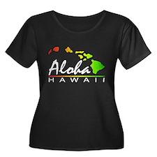 ALOHA Hawaii (Distressed Design) Plus Size T-Shirt