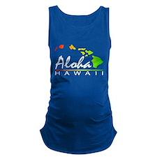 ALOHA Hawaii (Distressed Design) Maternity Tank To